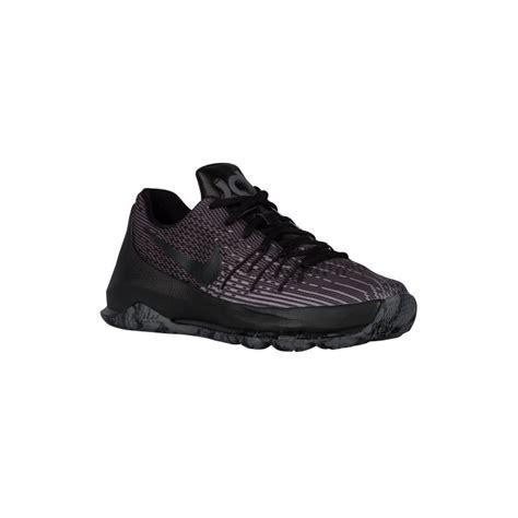 black and grey basketball shoes black and grey nike nike kd 8 boys grade school