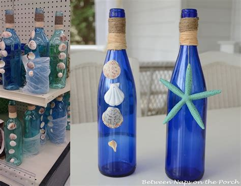paper doily decoupaged bottle save those wine bottles