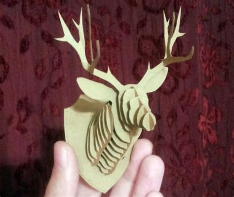 hanging paper craft reindeer wall hanging free papercraft