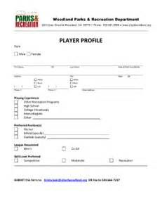 college recruiting profile template softball player profile template free pdffiller