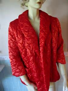 vintage quilted satin bed jacket by belindasstyleshop