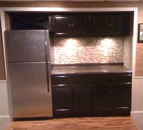 Basement Bar Refrigerator Basement Bar Modern Home Theater Milwaukee By Ipg