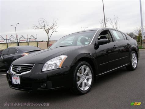 black nissan 2008 2008 nissan maxima 3 5 se in super black 814253 autos