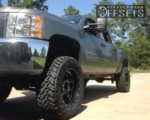 Truck Wheels Offset Wheel Offset 2013 Chevrolet Silverado 1500 Aggressive 1