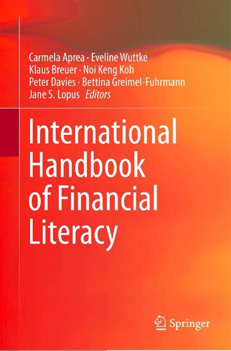 Handbook Of Structural Equation Modeling 2012 Rick H Hoyle international handbook of financial literacy erschienen wirtschaftswissenschaft und didaktik