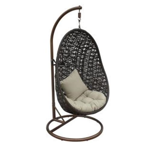 chair swing stand jlip brown double woven rattan patio swing chair with