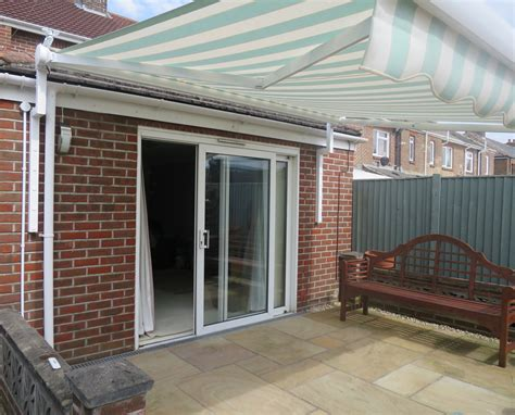 electric awnings for decks electric patio awning fitted in portsmouth awningsouth