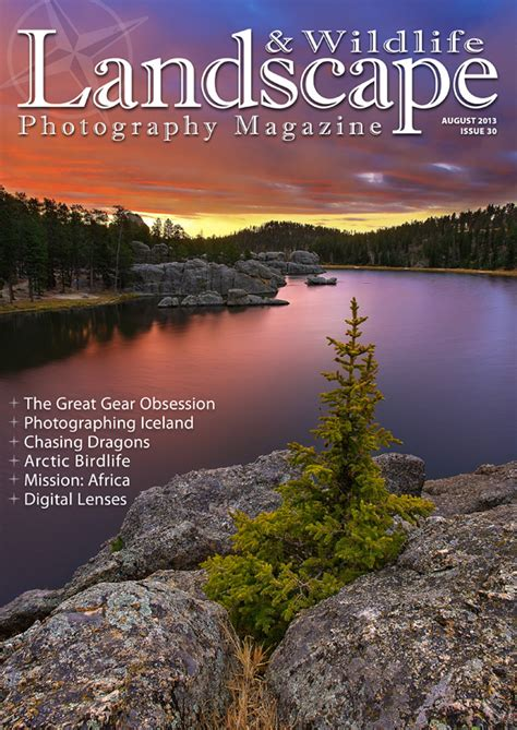 re designed landscape photography magazine issue