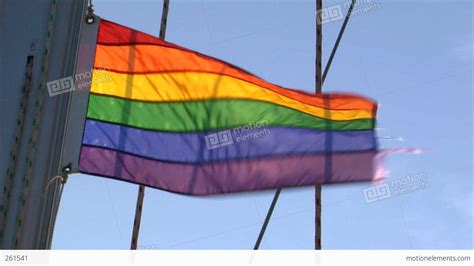 gay rainbow flag on sailing boat stock video footage 261541 - Gay Boat Flags
