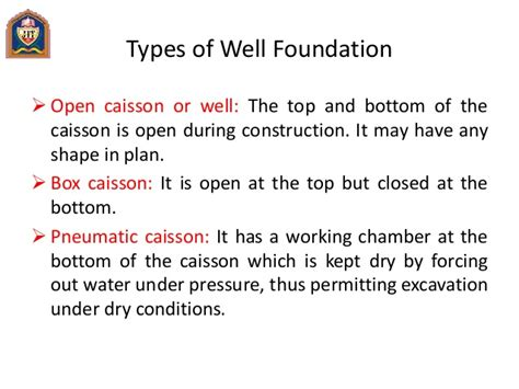 design criteria of well foundation advanced foundation design nce 011