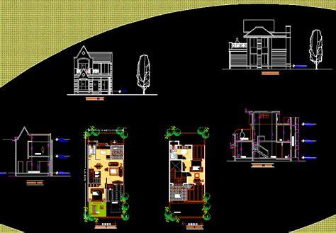 row house dwg block  autocad designs cad