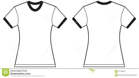 Women S Ringer T Shirt Design Template Stock Illustration Illustration Of Black Ringer 67728974 S T Shirt Design Template
