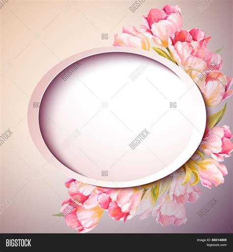 s day flower card template flowers invitation template vector photo bigstock