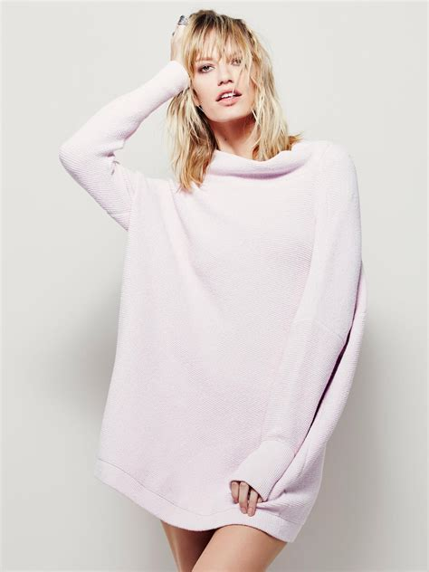 free slouchy ottoman tunic lyst free ottoman slouchy tunic in pink