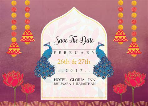 Indian Priyal Shah Save The Date Indian Wedding Templates Free
