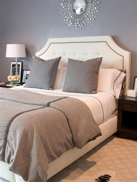 gray and white bedroom crisp white headboards bedroom decorating ideas for