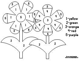 color by number flower coloring pages fun learning printables for kids