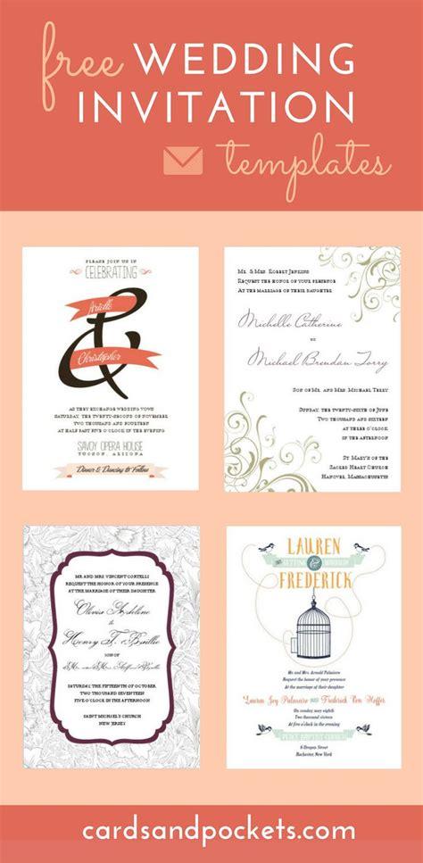 25 best ideas about invitation templates on diy wedding invitations templates free