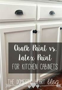 Can You Paint Kitchen Cabinets With Chalk Paint by Chalk Paint Vs Paint For Kitchen Cabinets Diy