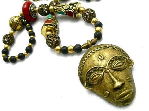 27 inch lava l necklace of brass lava rock resin 27 inches from