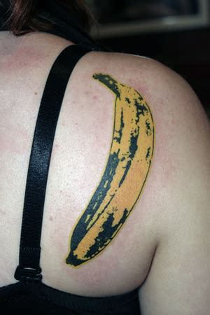 andy warhol tattoo banana tattoos themusicink
