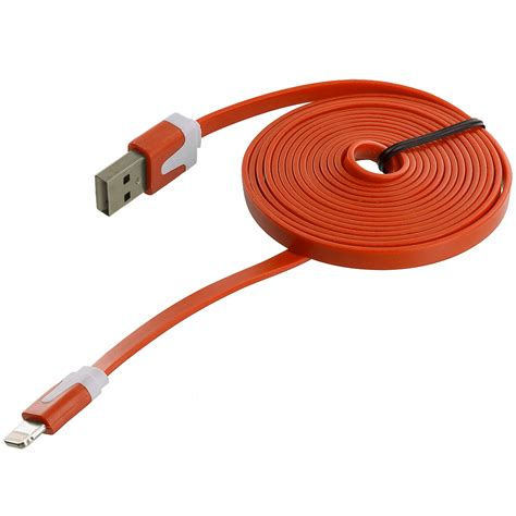 flat usb sync data charging charger cable cord for iphone 7 6 6s 5 5c plus se 5s ebay
