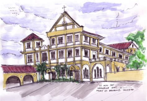 mt st benedict trinidad mount saint benedict trinidad tobago watercolor the
