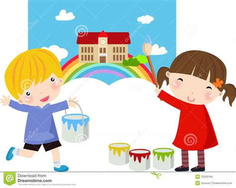 children s painting free painter royalty free stock image image