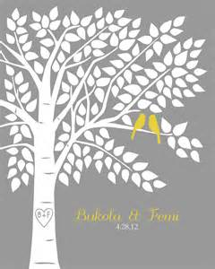 tree guest book guest book tree personalized wedding print 16x20 150