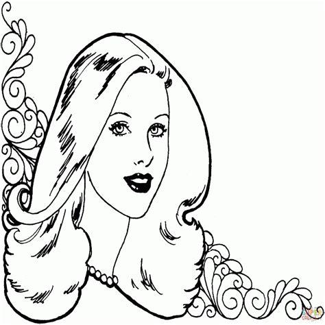 imagenes de mujeres lindas para dibujar dibujos de mujeres para colorear e imprimir