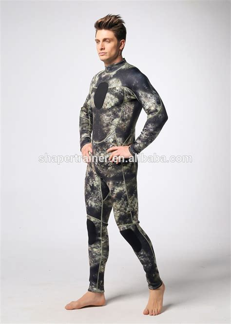 Wetsuit Diving 3mm Soft Blue spearfishing neoprene wetsuit camouflage diving suits