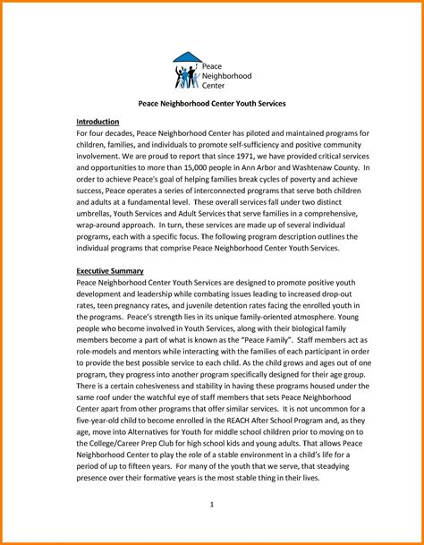 grant writing sle templates 8 exles of grant proposals lease template