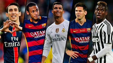 messi and ronaldo who is the best top 5 most skillful players 2015 16 messi ronaldo neymar