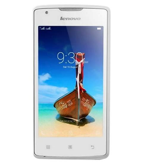 Lenovo A1000 Lenovo A1000 lenovo a1000 8gb white mobile phones at low prices snapdeal india