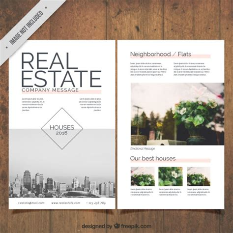 real estate prospectus template real estate flyer with pictures vector free