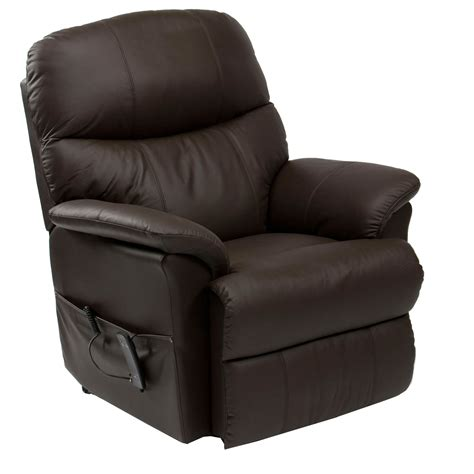 reclining leather armchairs lars riser recliner leather armchair next day delivery