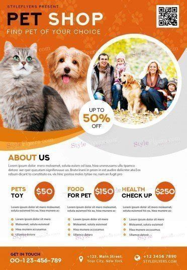 pet flyer templates free pet shop psd flyer template 21196 styleflyers