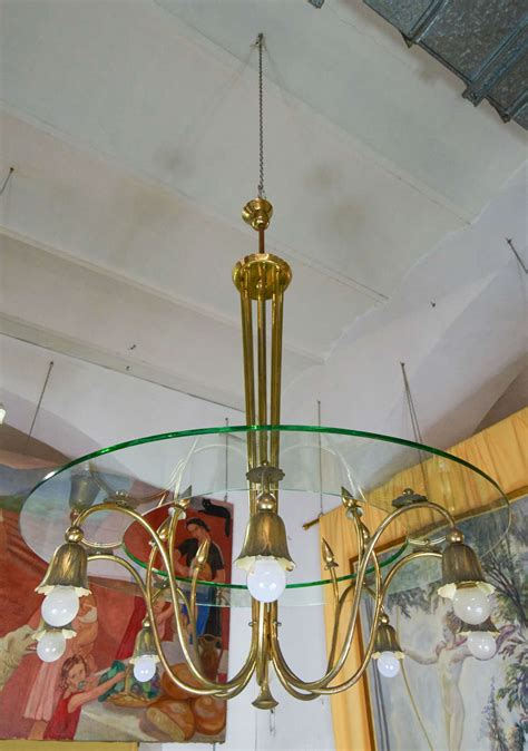 1940s Chandelier 1940s Chandelier By Brusotti For Sale At 1stdibs