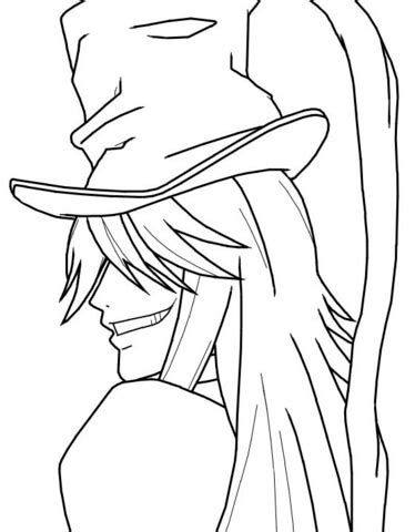 black butler coloring pages undertaker from kuroshitsuji coloring page free