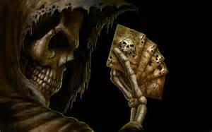 skeleton playing cards wallpaper
