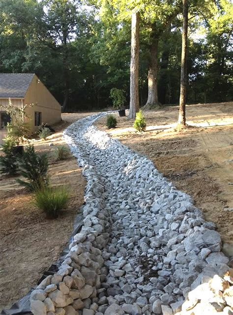 installing drainage ditch landscaping ideas home design ideas