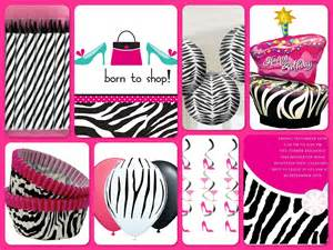 Theme parties zebra print party decorations hanging decorations 4 jpg