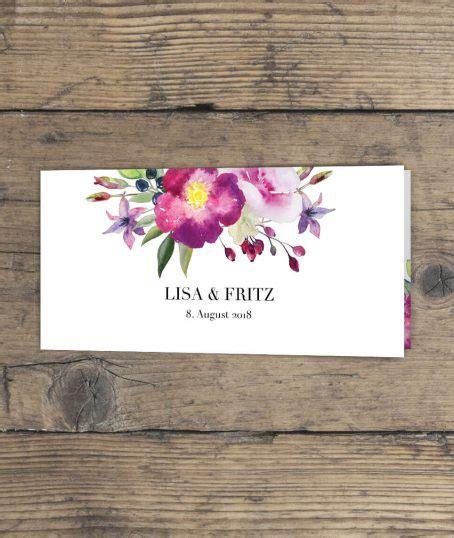 Hochzeitseinladung Klappkarte by Hochzeitseinladung Quot Aquarell Quot Motiv Aus Einem Blumenbouquet