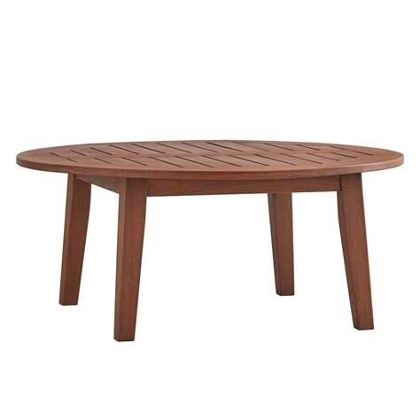 home depot outdoor coffee table homesullivan verdon gorge brown oiled wood outdoor coffee