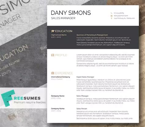 Cv Sjabloon Indesign 35 free creative resume cv templates xdesigns