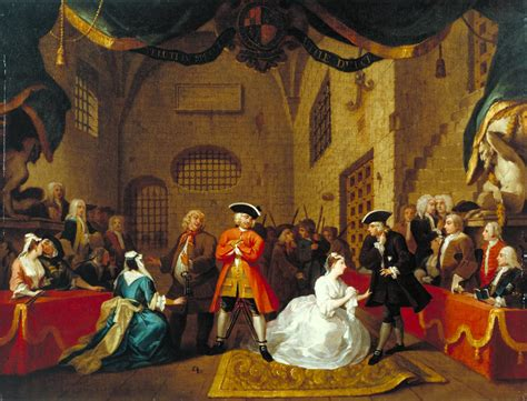 the beggars opera and a scene from the beggar s opera vi william hogarth tate