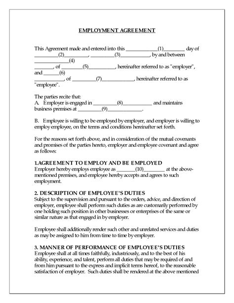 best photos of sle employment agreement sle