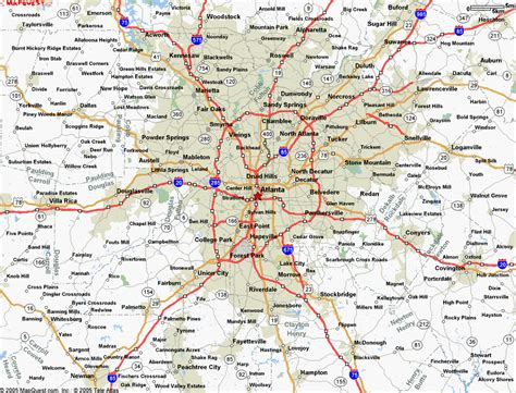 atl map map of atlanta ga