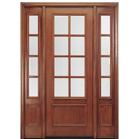 Exterior Door Bottom Mai Doors Dd88l 1 2 True Divided Lite 8 0 Quot 8 Lite Panel Bottom Mahogany Exterior Door