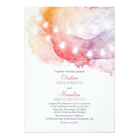 Wedding Invitations Watercolor by Best 25 Watercolor Invitations Ideas On